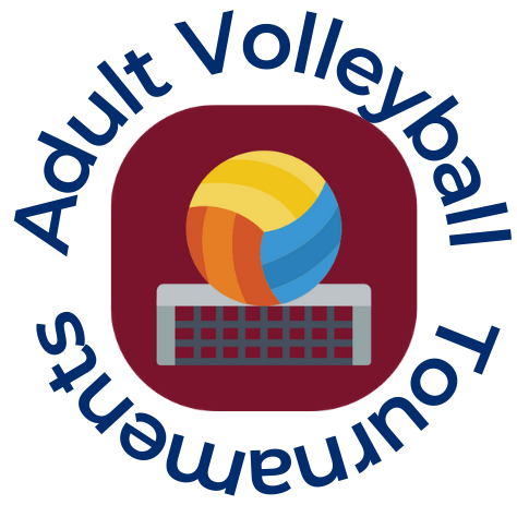 adult volleyball tournaments logo